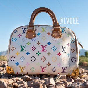 LOUIS VUITTON Small Multicolor Handbag White